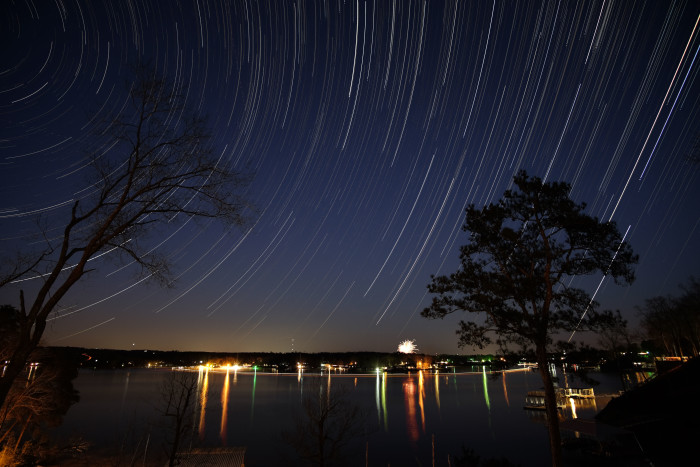 12) Star Trails over Smith Lake
