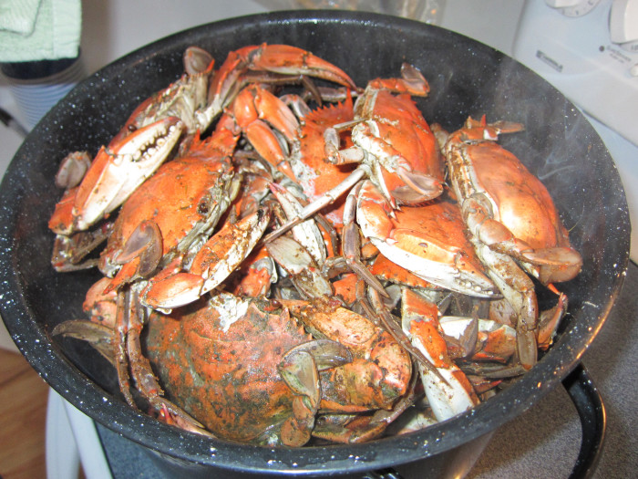 1. Steamed Crabs