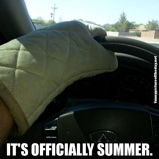 4. Steering wheels give third-degree burns.