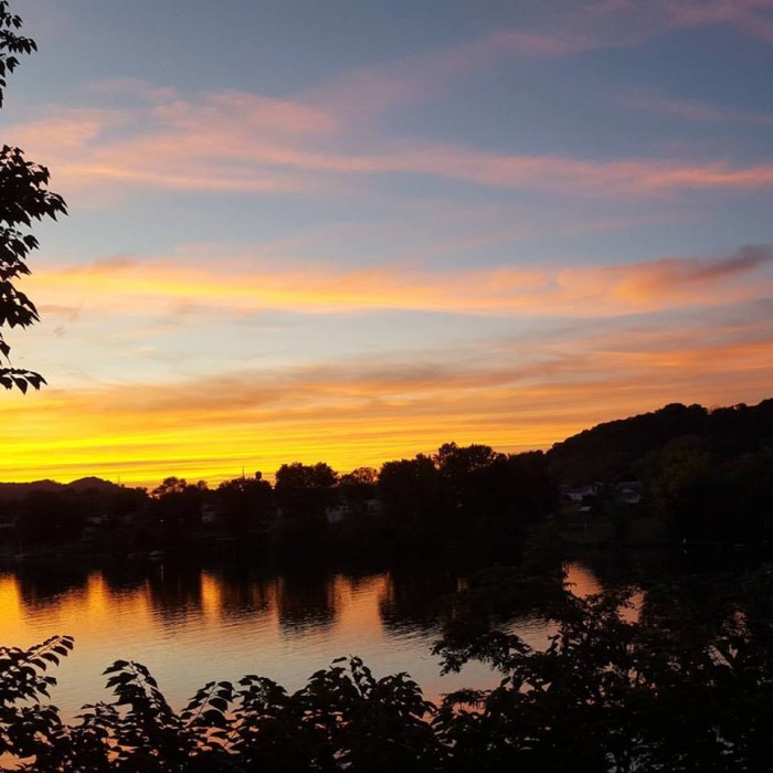 10. The sun sets over the Kanawha Valley.