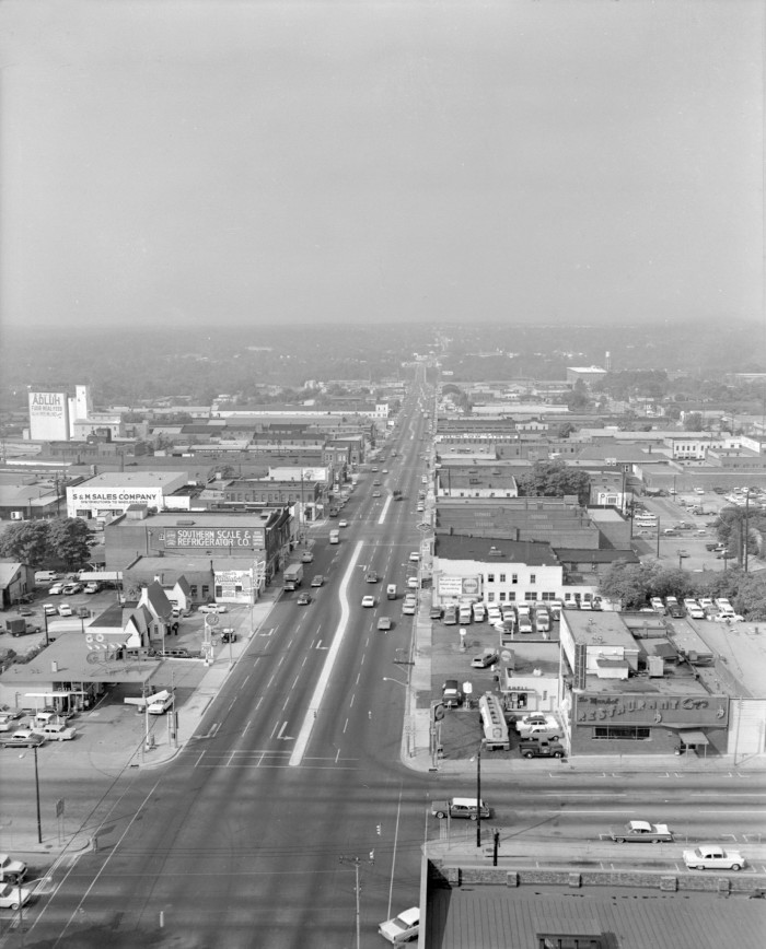 """11. Columbia - An aerial view of """"The Vista"""" in 1963."""