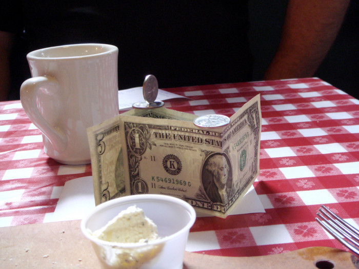8. But current and former wait staff persons are among the best tippers ever.