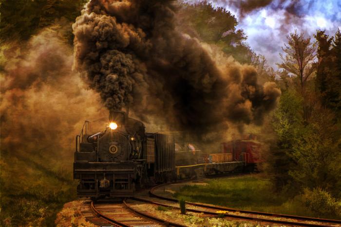 10. Amazing train photo.