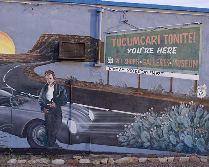 11. The Blue Swallow Motel, in Tucumcari, opened in 1939. The motel became a popular stop along Route 66 and is still open today. This mural adorns the motel's wall and shows James Dean lounging against a car that looks a lot like the actor's Porsche Spyder.