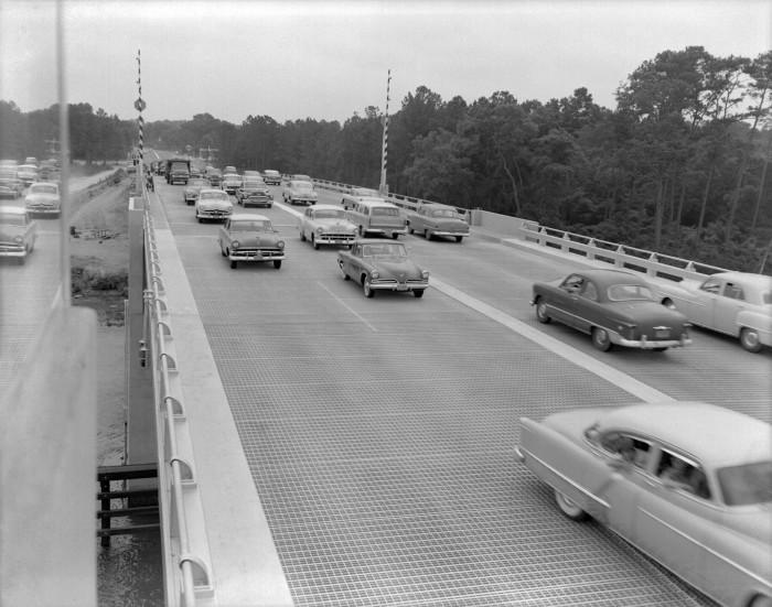 9. James Island - The Wappoo Bridge from Folly Road on June 19, 1956.
