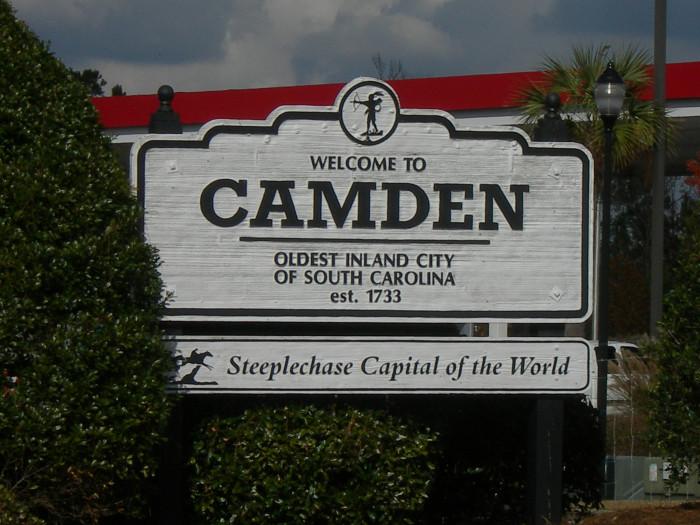12. Camden, SC