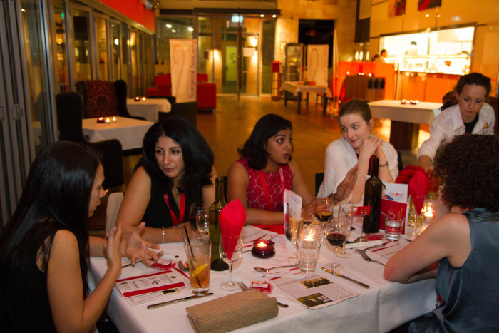 2. A group of women dining together = separate checks; each order entered separately. Men are more likely to split a check evenly, but women want to pay down to the penny only for their own food and drink.