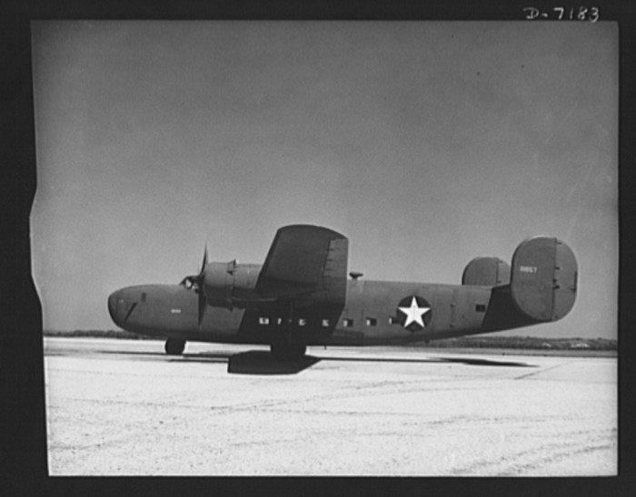 1. This is a C-87 transport plane in Fort Worth that was just about to take off. It carried one of the greatest human and cargo loads of any plane, even those in mass production today.