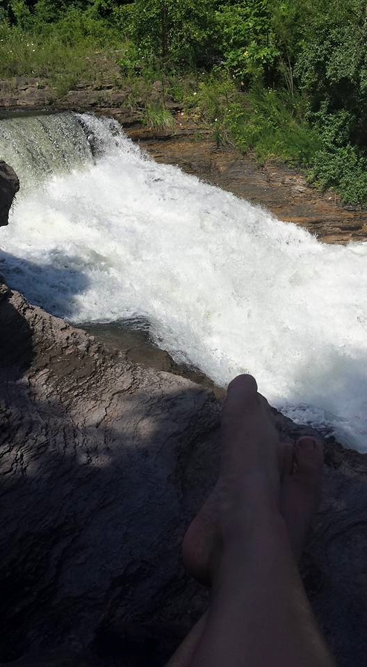 7. But getting to this swimming hole is tricky.
