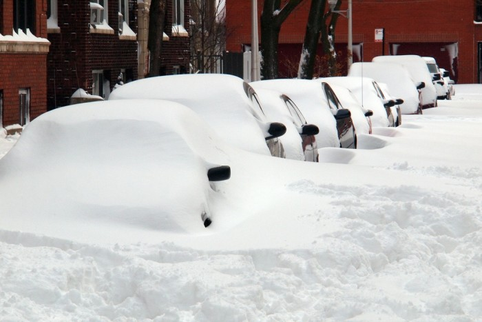 1. Digging your car out of snow.