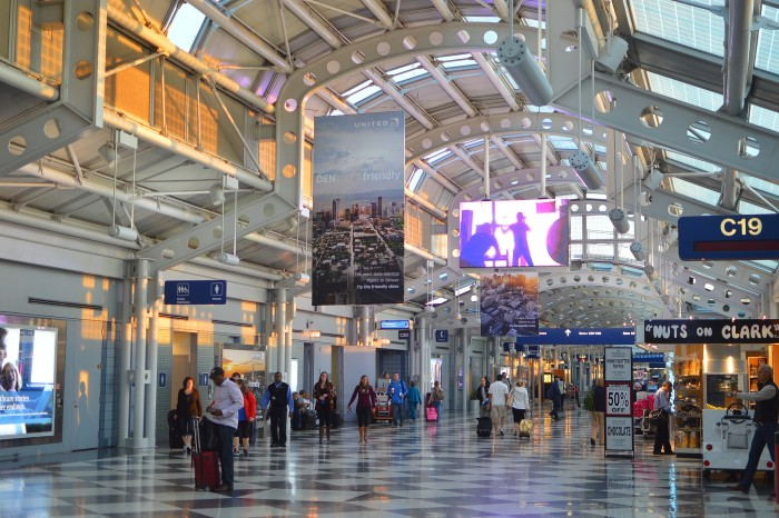 3. Getting from one part of O'Hare to another in time to catch your flight.