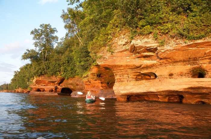 1. Kayak through the sea caves at the Apostle Islands.