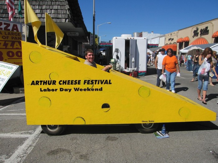 4. You will definitely want to check out the Arthur Cheese Festival.
