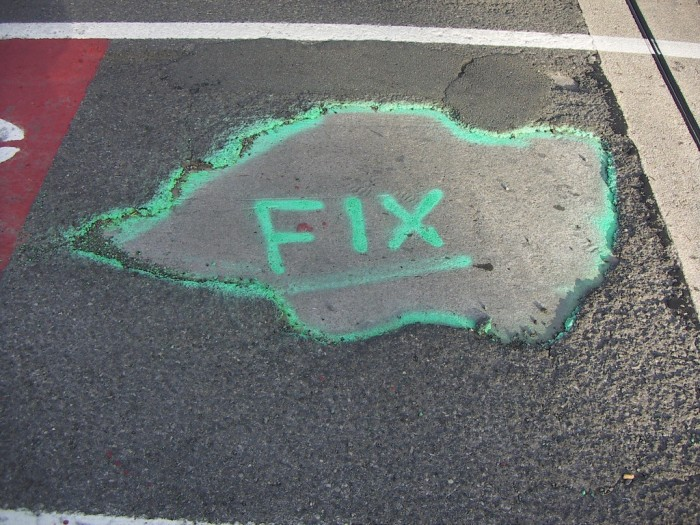 4. You have fixed at least one tire due to potholes.