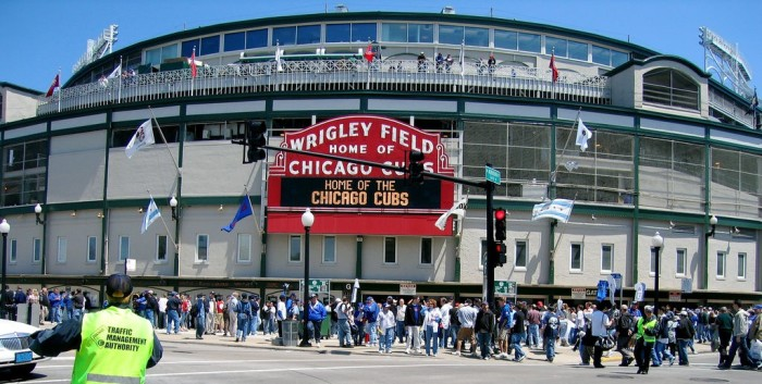 6. Catch a baseball game at the legendary Wrigley Field.
