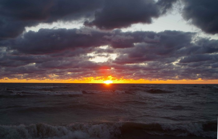 1. Begin your day by watching a stellar Illinois sunrise.