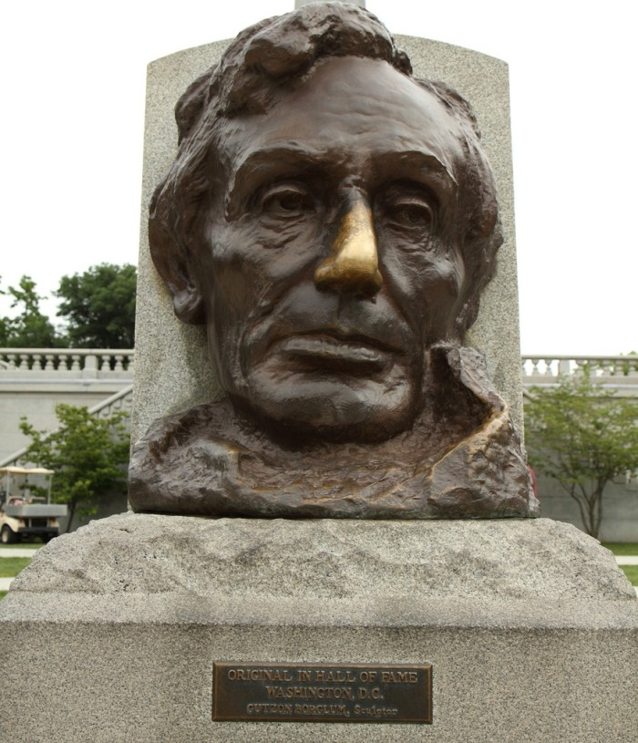 9. Go to Springfield and rub Lincoln's nose for luck.