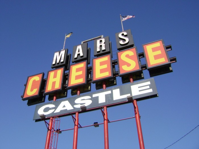 10. They walk into Mars Cheese Castle.