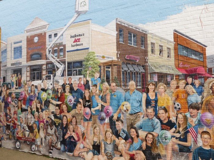 7. Beautiful murals grace some buildings in the downtown area.