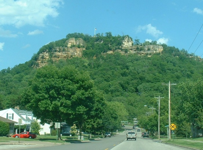 8. While you're here, you have to hike Grandad Bluff--about 600 feet above surrounding land.