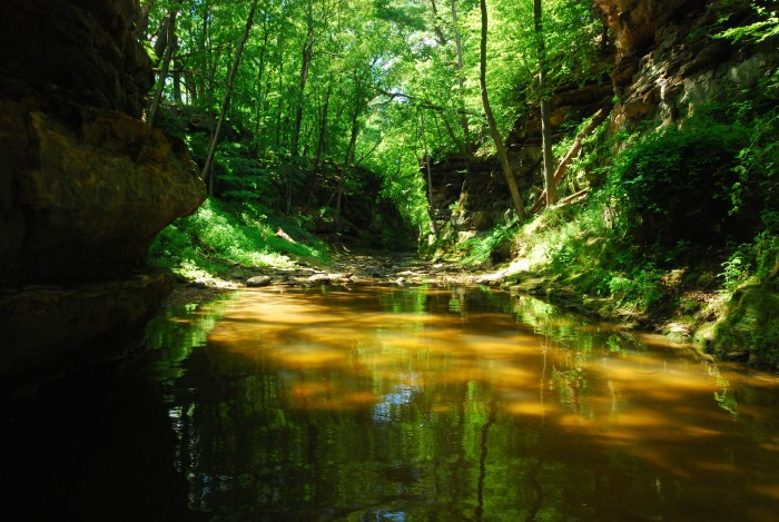 1. Pewits Nest is a natural gorge cut by Skillet Creek.
