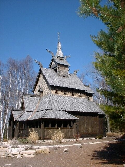 3. The structure was hand built by the Lutheran Church in 1991 and continues to be maintained by them.
