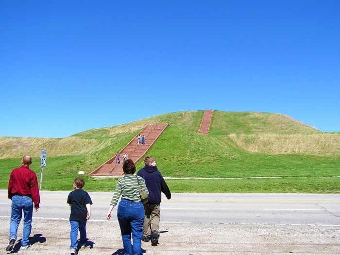 8. Cahokia Mounds (Collinsville) was home to one of the most sophisticated pre-Columbian communities in the world.