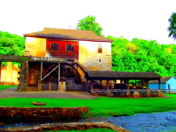 1) Water Powered Grist Mill