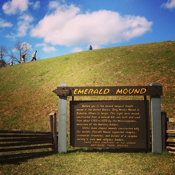 1. Emerald Mound, milepost 10.3