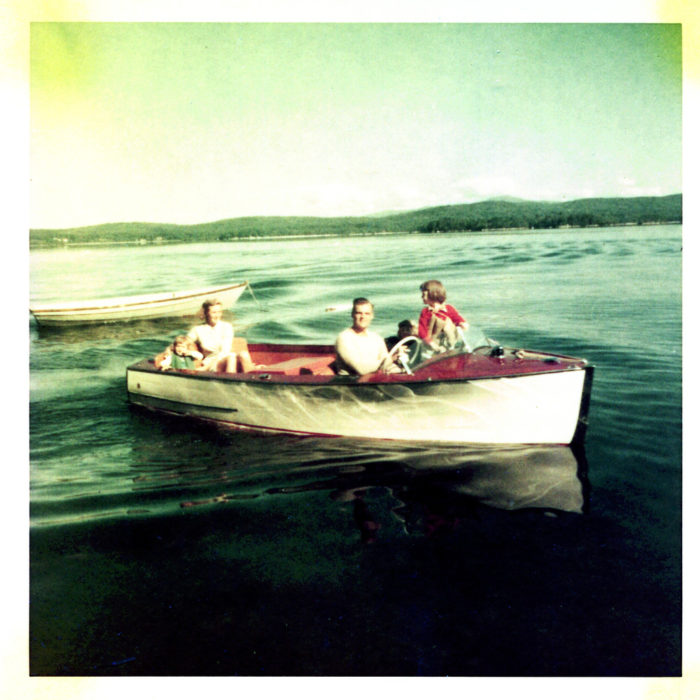 In 1956, these people loved cruising the lake – and 60 years later they probably still do!