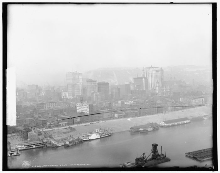 Aerial View of Pittsburgh, circa 1903.