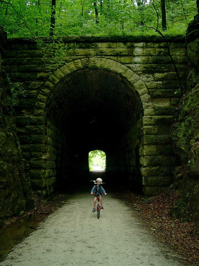 3.  The beautiful Katy Trail and the historic MKT Tunnel.