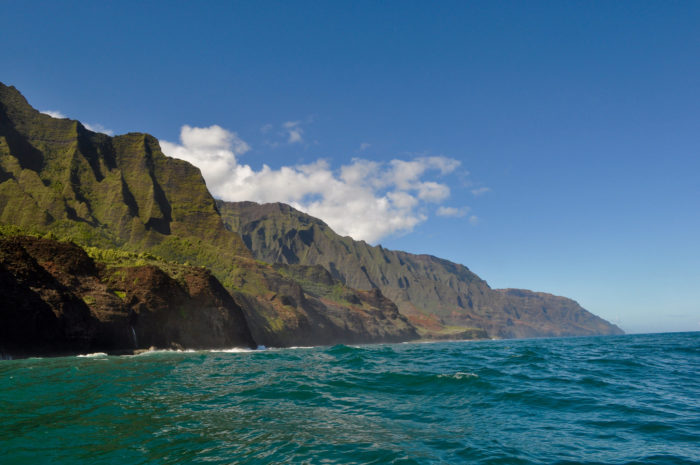"""1. The coast you see as Jurassic Park characters are approaching """"Isla Nublar"""" is Kauai's fabled Na Pali Coast."""