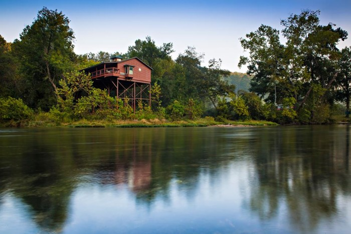 1.Tree house cabins at River of Life Farms on North Fork of the White River