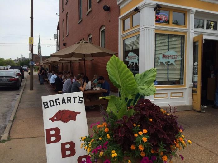 1.Highest rated restaurant in St. Louis:  Bogart's Smokehouse