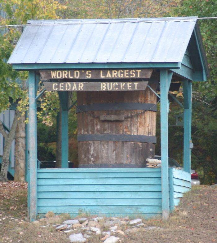 10. World's Largest Cedar Bucket, Oxford