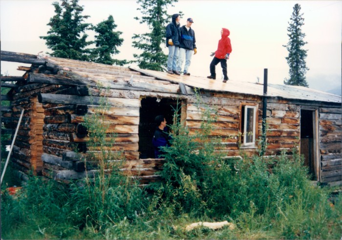12. Or chillin' in an abandoned log cabin.