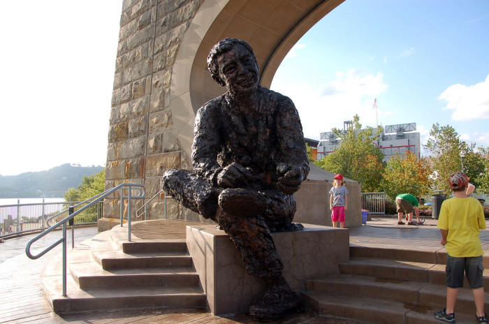 10. Visit Mister Rogers' statue.