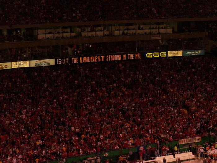 10.Kansas City Chief fans are the loudest fans ever.