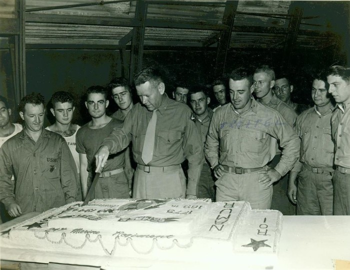 10. Members of the 24th Marine Regiment celebrating the Marine Corps birthday in 1944 on Maui.
