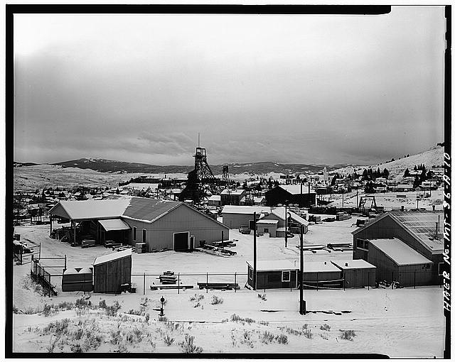 8.  The timber yard at the Anselmo Mine, Butte.