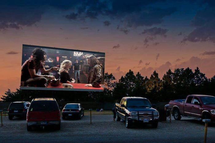 4. Go to a drive in movie.