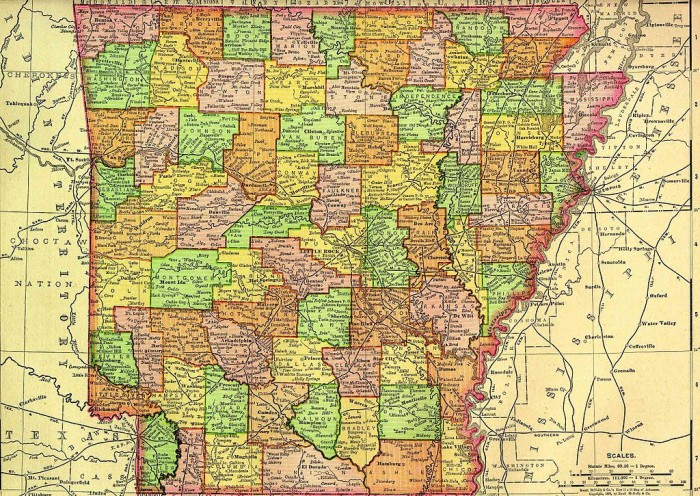 5. It might not look like it on a map because of the irregular shape, but the widest points in Arkansas's height and width are only separated by 22 miles.