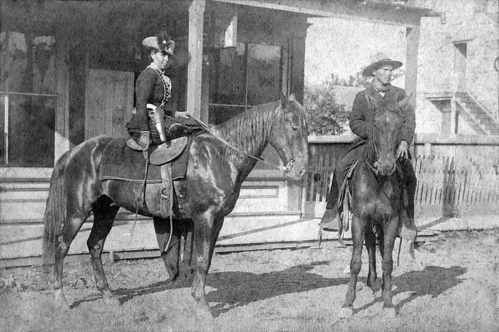 And a picture of Belle Starr, famous outlaw, on Garrison Avenue: