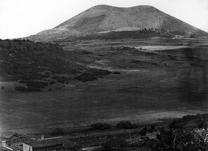 1. This shot shows Capulin Volcano during the year (1916) that it became a national monument.