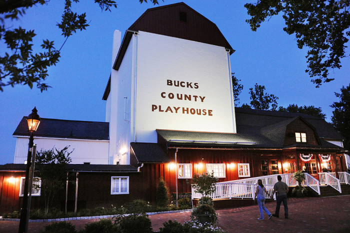 Do you have any idea what town this is yet? Here's a pretty good hint; the Bucks County Playhouse is located here. It's the State Theater; many famous actors got their start here, and many Broadway plays were tested here before hitting New York.