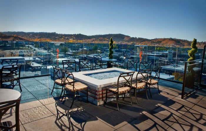 7. Go out on a date to this rooftop restaurant, Vertex Sky Bar.