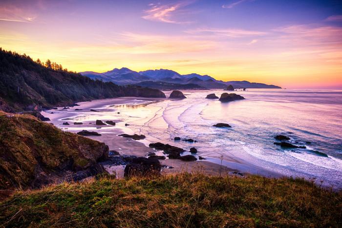9. A vibrant sunrise on the ever beautiful Oregon Coast.