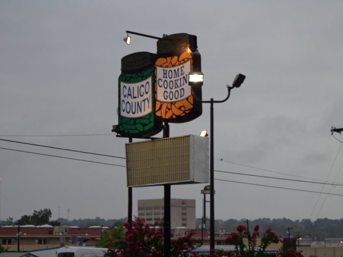 You can find all the chocolate gravy you need on the breakfast menu at Calico County, located at 2401 South 56th Street in Fort Smith.