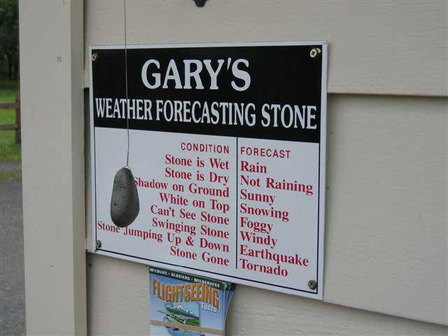 2. Weather forecasts are never, ever to be trusted.